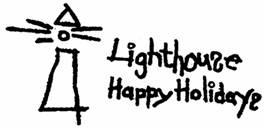 Lighthouse Happy Holidays Gift Drive logo